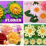 DIY Flores tejidas a crochet