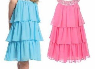 109e8ae18 Patrón vestido infantil con volantes · Vestido niñas