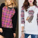 Patrón Blusa suéter raglan