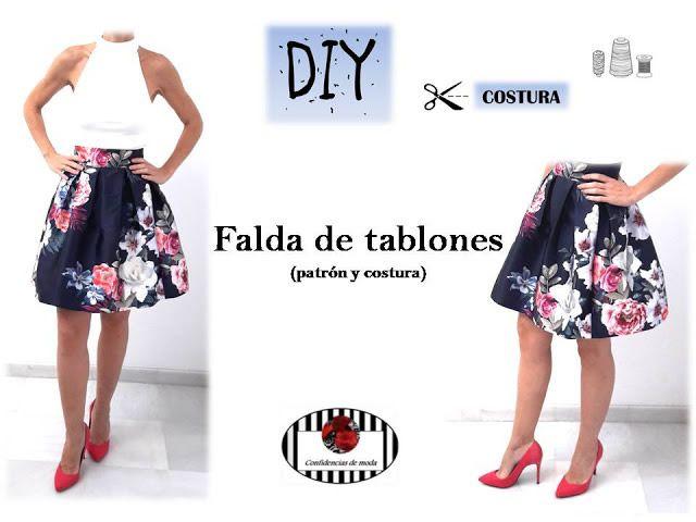 Falda de tablones DIY - Patrones gratis