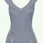 Blusa corpiño con cuello marco