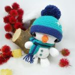 Muñeco de nieve amigurumi fácil de hacer
