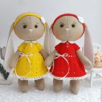 Patrón de muñeca conejita de tela