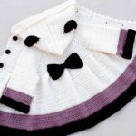DIY Abrigo de niña tejido a crochet