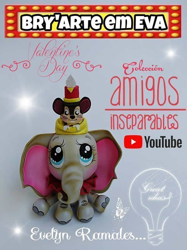 Como hacer a Dumbo en Goma Eva