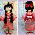 Muñeca de tela Geisha Maeko