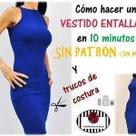 DIY vestido ajustado en 10 minutos sin patrón