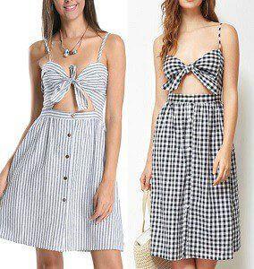 Patrones vestidos tirantes mujer