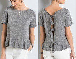 Blusa con abertura en la espalda