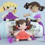 Mini muñeca a crochet