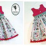 Patrón de vestido infantil para bebe niña de 6 meses