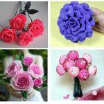 DIY Flores con papel crepe