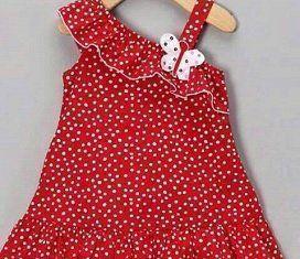 332937b68 Vestido de niña con un solo hombro · Vestido niñas. Vestido de niña con un  solo hombro Patrón ...