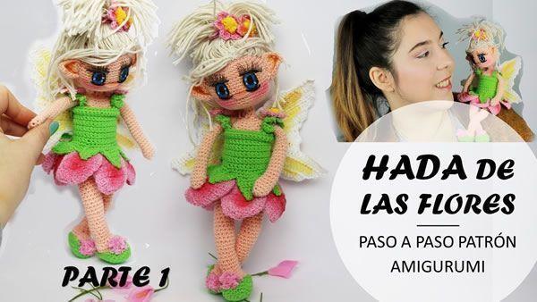 Muñeca amigurumi Hada de las flores