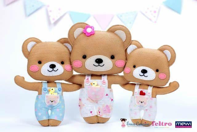 Tutorial y Molde gratis de oso en fieltro