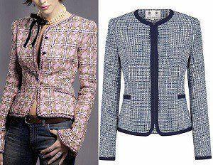 Patrón de chaqueta tipo Chanel