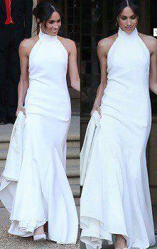 bonito y elegante Vestido Meghan Markle