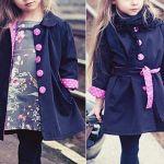 Chaqueta o abrigo infantil con cuello muñeca