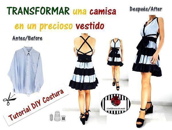 Transformar una camisa en un bonito vestido