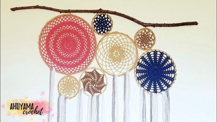 Cabecera de Jardín atrapasueñosa crochet