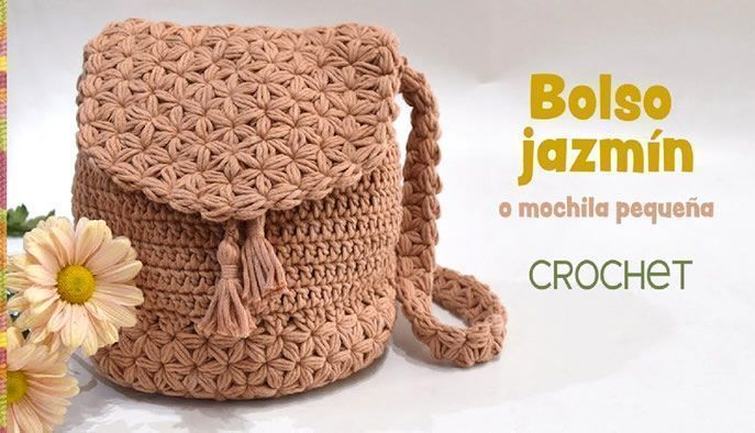 Tejido Bolso Crochet Jazmín Mochila A Eawxq0Z1w