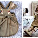 DIY y patrón delantal para muñeca