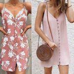 Vestido combinación chamisié