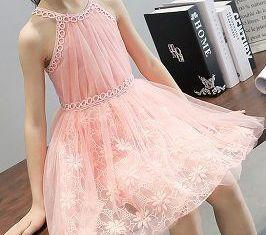 b3820f655 Vestido infantil de fiesta con sisa americana · Vestido niñas