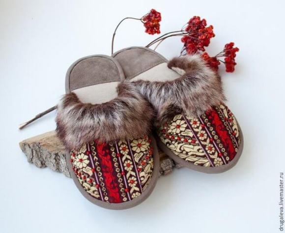 Zapatillas estilo ruso muy cómodas