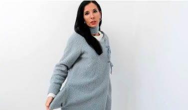 DIY Bolsillos y cuello - bufanda a un abrigo