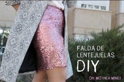 DIY Falda de lentejuelas para fiestas