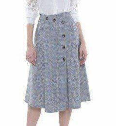 Falda sobre cruzada con botones