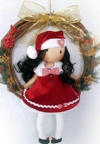 DIY Muñeca gorjuss navideña