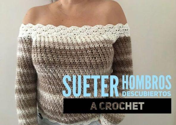 Suéter Crochet De Descubiertos Hombros Gratis Patrones A CBrdxeEWQo