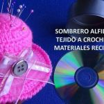 DIY Sombrero alfiletero con lata y CD reciclados