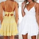 Vestido verano de tirantes y volantes