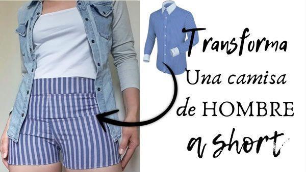 DIY Como hacer unos Shorts con una camisa
