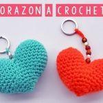 Corazón amigurumi a crochet