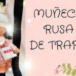 Muñeca Rusa de tela con patrones