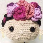 DIY Llavero Frida tejido a crochet