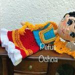Muñeca Frida tejida en amigurumi
