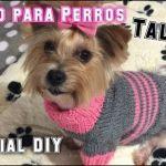 Abrigo suéter tejido a dos agujas para perros