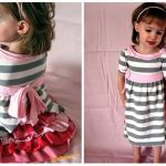 Vestidos para niña reciclando camisetas