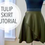 DIY y Patrón para hacer una Falda tulipán