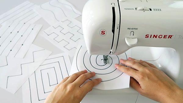 Ejercicios y plantillas para aprender a coser a máquina
