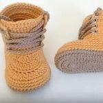 Botas militar para bebé a crochet