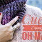 Cuello bufanda unisex esponjoso tejido a crochet