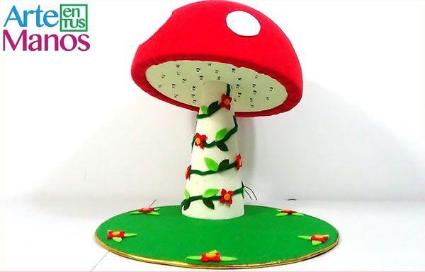 DIY Lampara navideña en forma de hongo