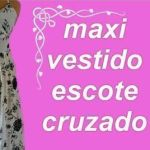 Maxi Vestido Corte Imperio y Escote Cruzado