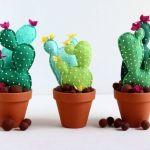 DIY Cactus de fieltro con moldes